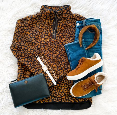 Happy Tuesday! We just announced the winner of our Tory Burch giveaway on stories! Also, this cozy $16 fleece pullover is SO comfy! It comes in 8 other colors and prints {NOTE the stock image for the leopard shows a full zipper but the item that arrives is actually this ☺️👌}. We got the blush option too and it's so cute! Size up for a more relaxed fit. 🛍 Shop it all via the LTK app or head to our blog and click the Shop Our IG tab. We hope y'all have a great day!   #LTKunder100 #LTKsalealert #LTKunder50