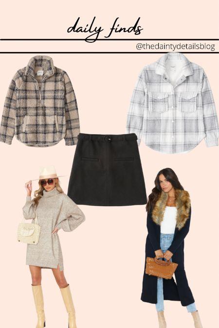 Sherpa Shacket Coatigan Sweater dress  Wool mini skirt Abercrombie  Show me your mumu   #LTKunder100 #LTKSeasonal #LTKstyletip