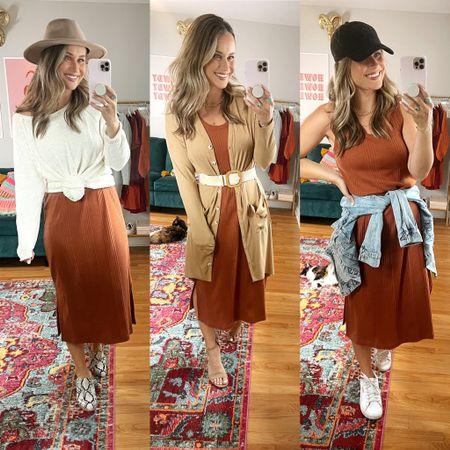Target finds: fall dress styled three ways!   #LTKstyletip #LTKshoecrush #LTKunder50