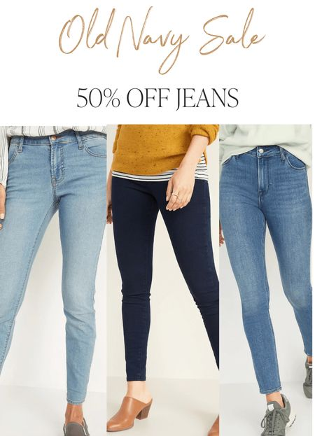 50% off jeans for the family at Old Navy. Today only!   #LTKunder50 #LTKsalealert #LTKfamily