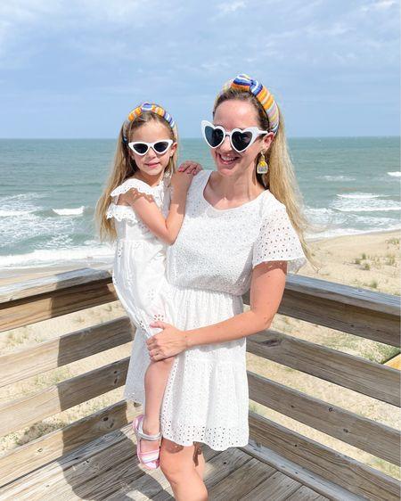 It's #matchingmonday: vacay edition! Nothing says summer like a crisp white eyelet dress and colorful terry cloth headband. 🤍🤍🤍 http://liketk.it/3i5Jg @liketoknow.it @liketoknow.it.family #liketkit #LTKunder50 #LTKkids #LTKstyletip