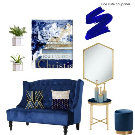 Blue hues Design Inspo! Furniture in lovely shades of navy, royal and true blue. Hints on gold to make it pop. Wall art, rugs, accent tables, sofas and more. Living room or bed room. http://liketk.it/3hQAF #liketkit @liketoknow.it #LTKhome #LTKstyletip #LTKsalealert #lv