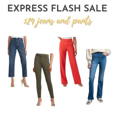 Express is having an online flash sale today from 6 pm to midnight - jeans and pants are $29   #LTKsalealert #LTKSale