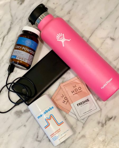 Hot Tip Tuesday: These are my 5 absolute friggin must haves if you plan on doing any travel this summer especially to an amusement park. 1) Keep your ass hydrated and this bottle is life. 2) Poop Pills: I don't know about you, but if I don't go #2 in the morning, I am no fun, especially when I travel things can tend to back up. These bad boys will keep you right as rain. 3) Nothing better than spending the entire day at Disneyland and your phone being dead by 3pm. Don't let that happen. 4) While THICC thighs save lives, chafing blows. I don't go anywhere above 75 degrees without my @megababe thigh chafe. 5) Lastly, but most importantly, If Zaddy and I want to get in a quickie nothing kills the mood more than swamp ass. I have tried many a Vag wipes and these are my faves. #liketkit @liketoknow.it http://liketk.it/3h8TR