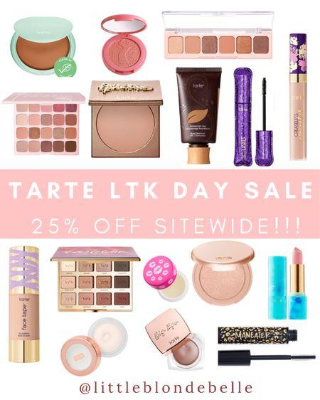 Tarts LTK DAY Sale 25% off SITEWIDE 😍 Use code: TARTELTK25 . . .  http://liketk.it/3h6gA #liketkit @liketoknow.it #LTKDay #LTKsalealert #LTKbeauty tarte, LTK day sake, makeup