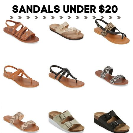 Sandals under $20! Check each style for promo codes to bring the price under $20. http://liketk.it/3jjnl #liketkit @liketoknow.it #LTKshoecrush #LTKsalealert #LTKunder50
