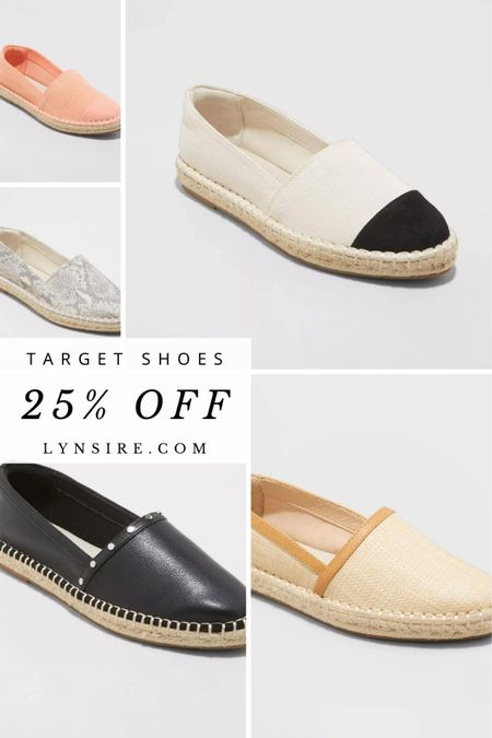 Target espadrille flats are currently on sale! Depending on the color some are 15% off, 25% off, and even 45% off!! Cute to wear with shorts, dresses, and more.   #LTKstyletip #LTKunder50 #LTKshoecrush