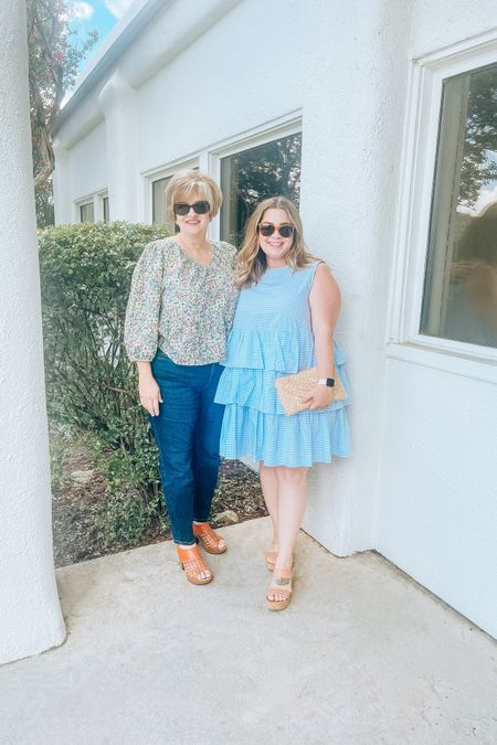 Obsessed with this tiered gingham dress that looks structured but is super comfortable. I'm in the XL and would recommend sizing down if you're unsure.   #liketkit #LTKstyletip #LTKcurves #LTKunder50 @liketoknow.it http://liketk.it/3iMzT