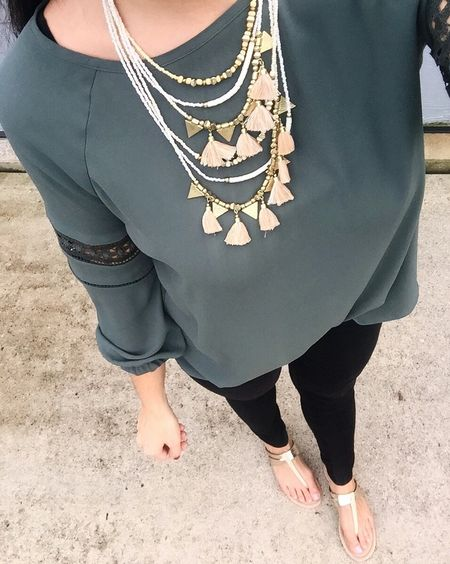 My fave store is having a sale!  🙌🏻👌🏼👏🏻👍🏼 40% off everything, including this top I'm so in love with.  It has the cutest detail on the sleeve, and I'm ordering the light pink one ASAP!   Tonight I'm standing in as my mom's date to see The Steve Miller Band at an outdoor theater! My step-dad is recovering (thanks for all the well wishes btw) but he's not well enough yet so I was happy to come with my mom tonight!  Get outfit details sent straight to you when you like/screenshot this pic!  🛍👉🏼 http://liketk.it/2sMMv @liketoknow.it #liketkit