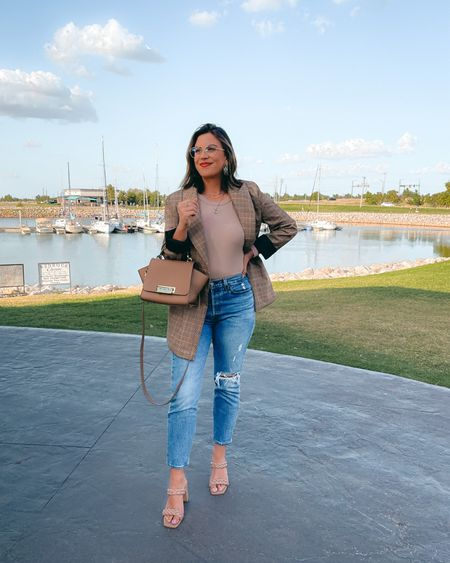 The perfect blazer from workwear to happy hour. Love the weight, style, and length. Perfect with this top from Evereve.   #LTKSeasonal #LTKstyletip #LTKworkwear