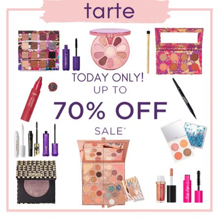 Makeup Lovers! Trate is having a major sale up to 70% off today!! * *  http://liketk.it/2XL74  * * *  #liketkit @liketoknow.it #makeup#tartecosmetics#eyeshadow#eyeliner#palettes#masacara#lashes#lips