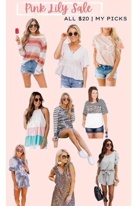 Pink lily sale // $20 summer sale // graphic tee // summer dresses and rompers   #LTKsalealert #LTKunder50