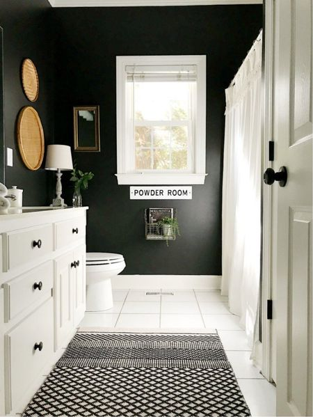 I love decorating bathrooms. A few accessories is all it takes. Home decor ideas for a bathroom. Side table for lamp is my favorite.   #LTKhome #LTKfamily #LTKSeasonal