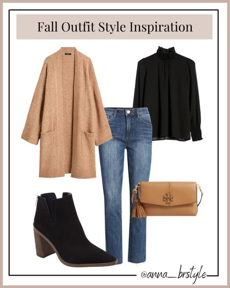 Fall outfits, workwear outfit, jcrew cardigan on sale, booties #anna_brstyle  #LTKsalealert