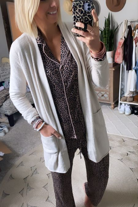 The cream colored Barefoot Dreams Cozy Lite cardigan is so comfy + perfect for lounging + layering this fall plus it's on major sale during the #nsale  I got my true size small in this one. Comes in several colors   #LTKstyletip #LTKunder100 #LTKsalealert
