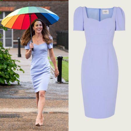Kate Middleton in LK Bennett sheath #lilac #pastel #pretty #mini #dress   #LTKeurope