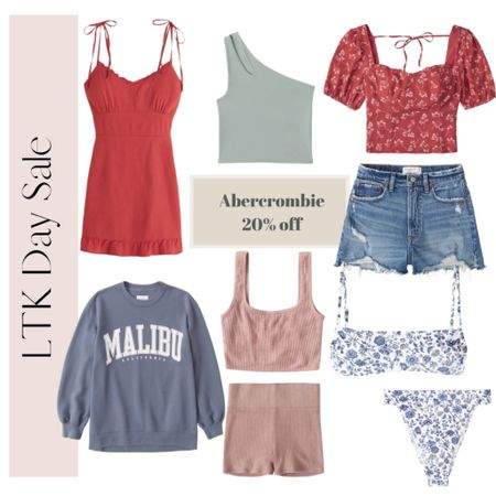 Summer essentials on sale for LTK Day at Abercrombie! Their jean shorts are my absolute favorites! Bikini, high rise bikini, shorts, beach vacation outfits http://liketk.it/3hacy #liketkit #LTKDay #LTKsalealert @liketoknow.it