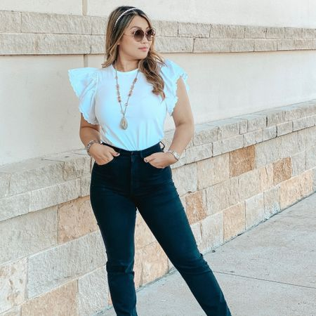I guess the white is trendy now! Loving my Tshirt from @express You can instantly shop my looks by following me on the LIKEtoKNOW.it shopping app  http://liketk.it/3dQus #liketkit @liketoknow.it #LTKunder50 #LTKstyletip #LTKworkwear