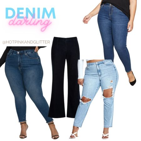 Plus size jeans we love'! From my tiktok review series these are top rated   #LTKunder50 #LTKcurves