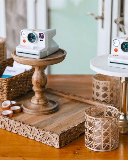 Polaroid camera and wedding guest book… boho trays and baskets   http://liketk.it/3hHJA #liketkit @liketoknow.it @liketoknow.it.brasil @liketoknow.it.europe @liketoknow.it.family @liketoknow.it.home #LTKwedding #LTKunder50 #LTKstyletip