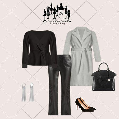 #leather #handbag #coat  #LTKcurves #LTKstyletip #LTKworkwear