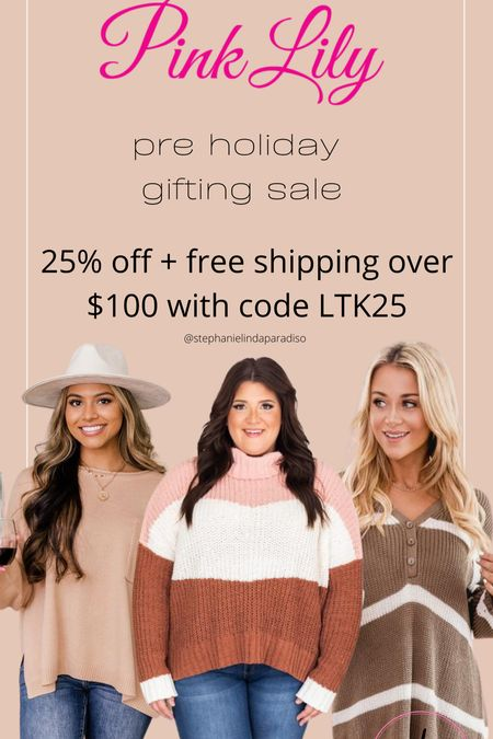 Pink Lily sweaters, fall outfit ideas, striped sweater, oversize sweater cozy outfit ideas, plus size, Holiday gift ideas   #LTKsalealert #LTKunder50 #LTKHoliday