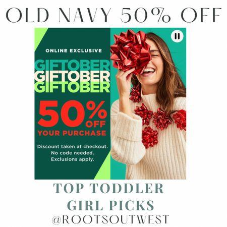 Toddler girl old navy sale picks!  #LTKkids #LTKsalealert #LTKfamily