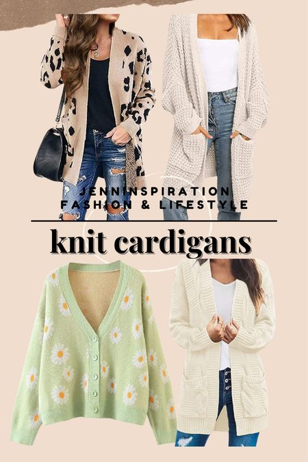 Knit cardigans under $35 on Amazon. Perfect to wear for fall weather. Wear the knit cardigan with a plain top, jeans, wide leg pants   #LTKHoliday #LTKstyletip #LTKGiftGuide