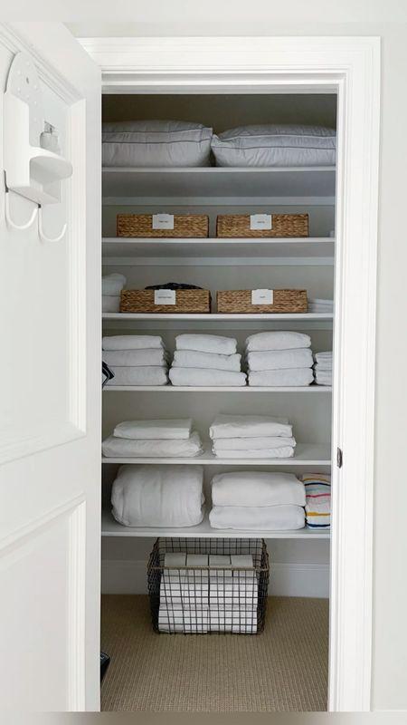 Declutter and organize the kids linen closet with me! || #decluttering #linencloset  #LTKhome #LTKfamily #LTKHoliday
