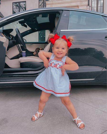 http://liketk.it/3gzta #liketkit @liketoknow.it Memorial Day, 4th of July, baby girl, bows, Emily Ann Gemma