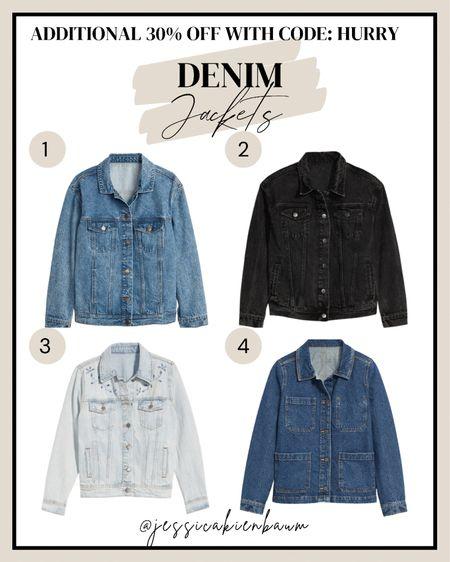 Old navy denim jackets! On sale 30% off with code HURRY.  #oldnavy #sale #denim #fallstyle  #LTKunder50 #LTKstyletip #LTKsalealert