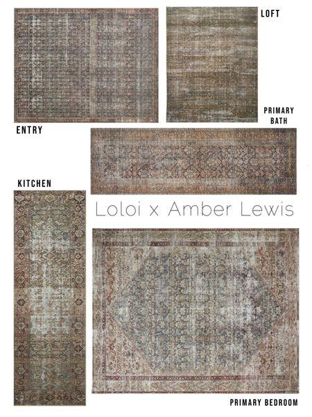 Loloi x Amber Lewis   Vintage rug, antique rug, overdyed rug, Amber interiors, printed rug, vintage look, vintage runner, kitchen runner, bathroom runner, rug, bedroom rug, entry rug, loloi   #LTKunder100 #LTKhome #LTKsalealert