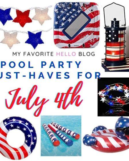 Fourth of July pool party floats and decor. July 4th pool floats. Stars and Stripes pool floats. http://liketk.it/3g6M5 #liketkit @liketoknow.it #LTKhome #LTKunder50 #LTKswim #poolfloats #july4th #fourthofjuly #starsandstripes