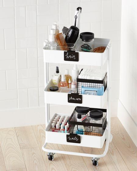 Sale alert! 3 tier rolling rack under $25! Great for organizing beauty products, office supplies, school supplies, laundry essentials, pantry essentials, closets  @liketoknow.it #liketkit #LTKhome #LTKsalealert #LTKunder50 http://liketk.it/3i2i4 organization, organizer, organized home, white rolling cart, deal days