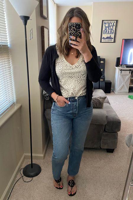 Office look. Business casual. Jeans for work. High waist jeans. TopShop. Dad jeans. Work to play. Summer sale. http://liketk.it/3jax5 #liketkit @liketoknow.it #LTKsalealert #LTKworkwear #LTKshoecrush