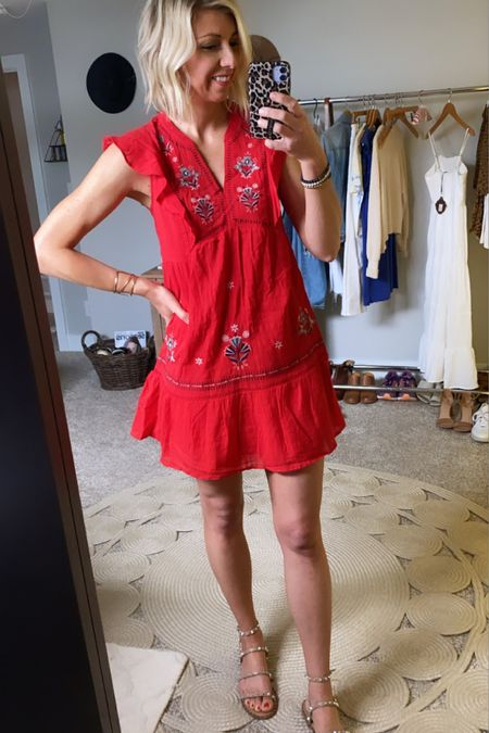 http://liketk.it/3gBQc #liketkit @liketoknow.it  The cutest little red dress for summer!!  Pair of with some sandals for any occasion #LTKunder50 #LTKstyletip #LTKtravel