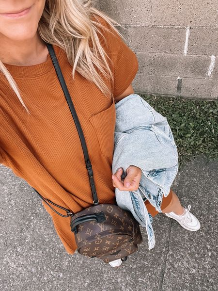 This t shirt dress is the perfect fall transitional piece to add to your closet! The color screams autumn! Add a jean jacket for cooler days! Fall clothes, transitional pieces   #LTKstyletip #LTKunder100 #LTKSeasonal