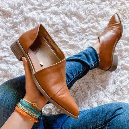 Target faux leather shoes, sunflower bracelet stack  #LTKunder50 #LTKsalealert #LTKshoecrush
