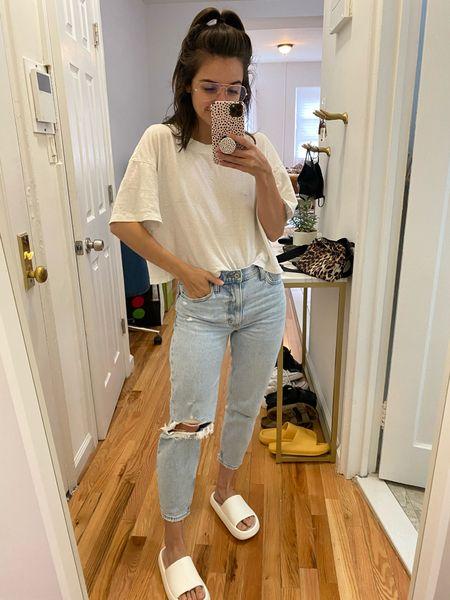 Abercrombie Mom jeans Ripped jeans   #LTKsalealert #LTKunder100 #LTKstyletip
