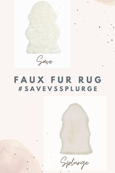 Save VS Splurge HOME EDITION Faux Fur Rug Options http://liketk.it/2Tgsx #liketkit @liketoknow.it