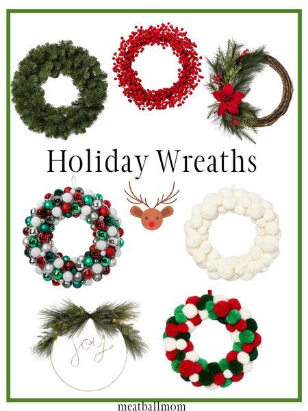 Pretty holiday wreaths                 #ltkholidaystyle #ltkfamily #ltkstyletip holiday wreaths, Christmas wreaths, holiday decor, Christmas decor target, target home decor, holiday style, holiday decorating    #LTKhome #StayHomeWithLTK #LTKFall http://liketk.it/2Z6mj #liketkit @liketoknow.it