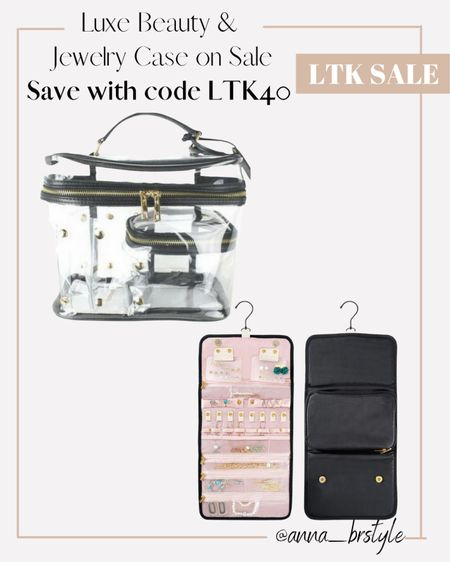 Luxe beauty case and jewelry case on sale #anna_brstyle  #LTKSale