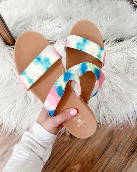 Two strap slide sandals in tie dye from #target under $15  http://liketk.it/3eJsh #liketkit @liketoknow.it #LTKstyletip #LTKswim #LTKshoecrush