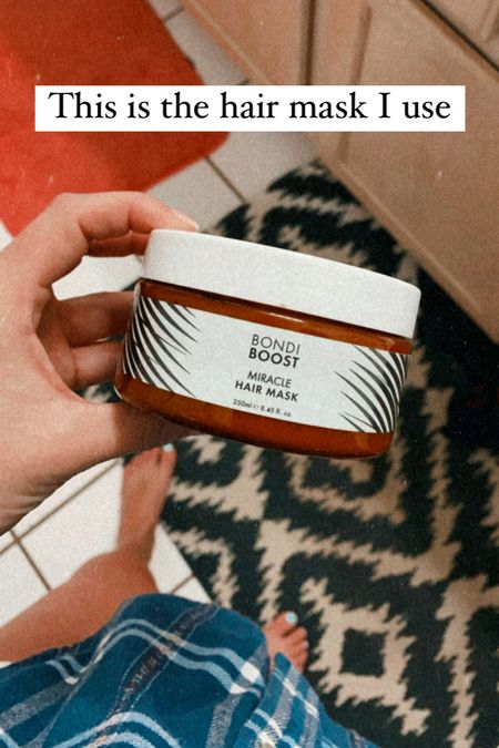 Happy hair mask Monday! I use this hair mask once a week (if I remember) to help with growth and hair texture. Long hair, hair care, healthy hair   #LTKbeauty
