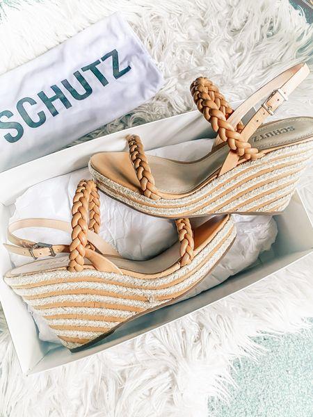 Braided sandal trend // neutral wedge // Schutz wedge   #LTKshoecrush #LTKunder100 #LTKwedding