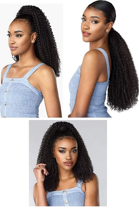 Get out the door faster and with absolute style with the Sensationnel Curls Kinks & Co Synthetic Instant Ponytail.  Amazon  Follow me in the @LIKEtoKNOW.it shopping app to shop this post and get my exclusive app-only-content!  #liketkit #pobytail #wigs #amazonbeauty #syntheticponytail #longponytail #curlyhair #kinkyhair #naturalhair @liketoknow.it     #LTKbeauty #LTKstyletip #LTKunder50
