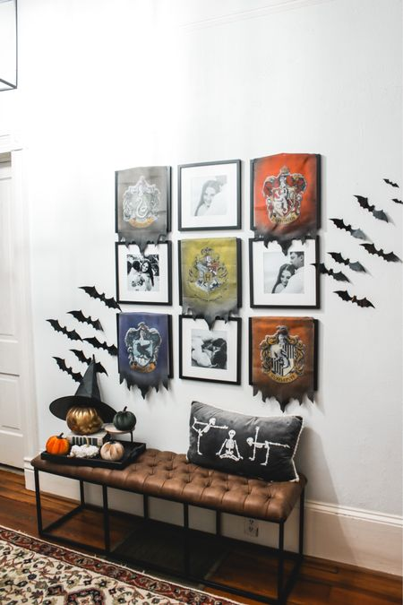 Halloween decor entryway spooky Harry Potter diy hog warts