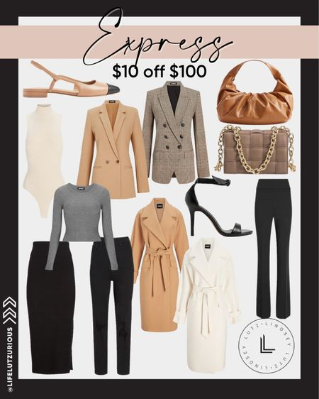 #LTKSALE - Express, $10 off $100 Purchases. Fall workwear, work outfits, fall fashion, fall outfits, work ootd  #LTKSale #LTKunder100 #LTKworkwear