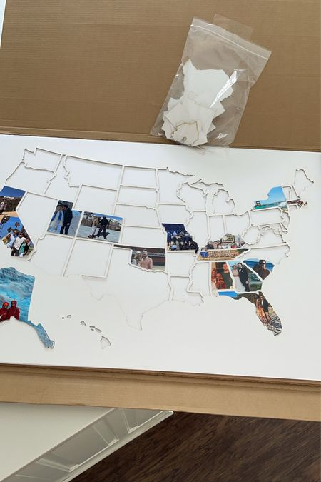 Travel Map Photo Collage