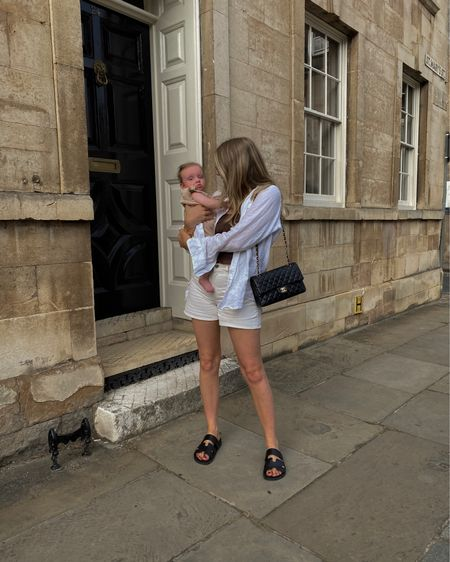Sumer outfit, neutral outfit, wardrobe staples, casual outfit, arket denim shorts, amazon linen shirt @liketoknow.it http://liketk.it/3mr4T #liketkit #LTKstyletip #LTKeurope #LTKunder100